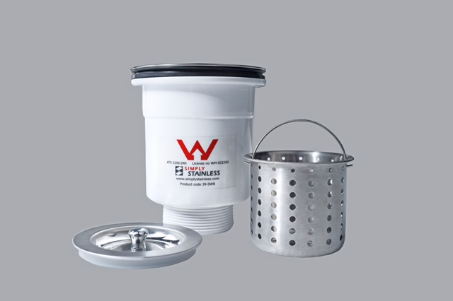 90MM Sink Waste & Basket